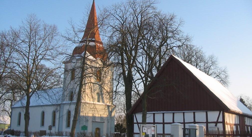 Kirche Ducherow, Winter